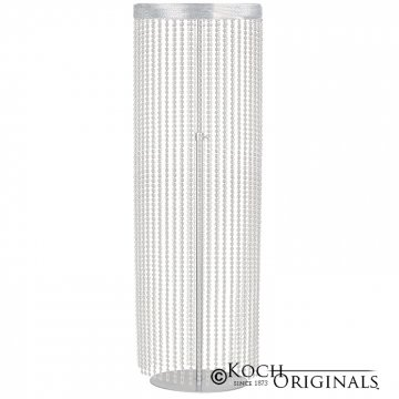 Crystal Column - Adjustable Height - Frosted Silver w/ Clear Crystals
