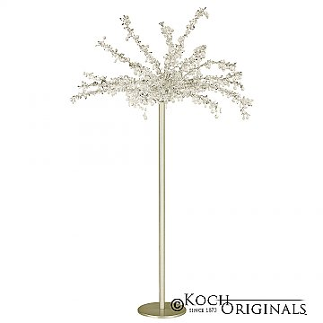 Tabletop Crystal Tree - 32'' Tall - Gold Leaf w/ Clear Crystals