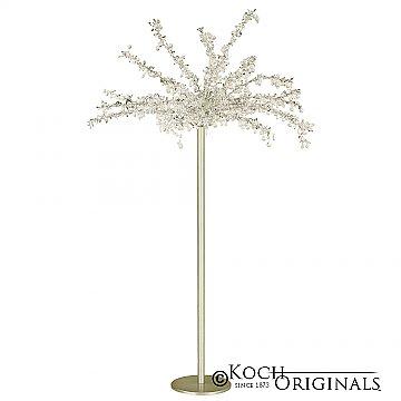 Tabletop Crystal Tree - 32'' Tall - Gold Leaf w/ Clear Crystals