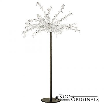 Tabletop Crystal Tree - 32'' Tall - Onyx Bronze w/ Clear Crystals