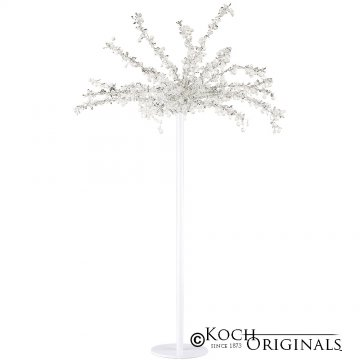 Tabletop Crystal Tree - 32'' Tall - White w/ Clear Crystals