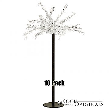 Tabletop Crystal Tree - 32'' Tall - 10 Pack - Onyx Bronze w/ Clear Crystals