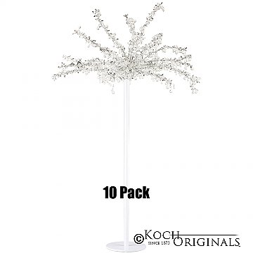 Tabletop Crystal Tree - 32'' Tall - 10 Pack - White w/ Clear Crystals