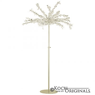 Crystal Tree - Adjustable Height - Gold Leaf w/ Clear Crystals