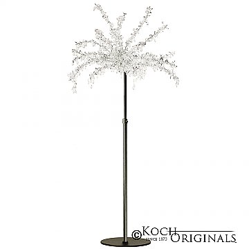 Crystal Tree - Adjustable Height - Onyx Bronze w/ Clear Crystals