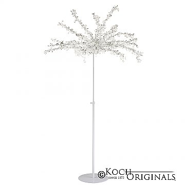 Crystal Tree - Adjustable Height - White w/ Clear Crystals