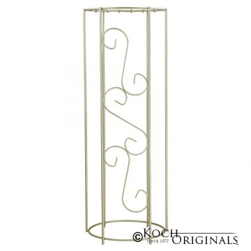 Metal Decorative Column - 38'' Height - Gold Leaf