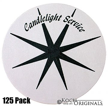 Congregational Candles Bobeche Holder - Disposable Paper - 125 Pieces