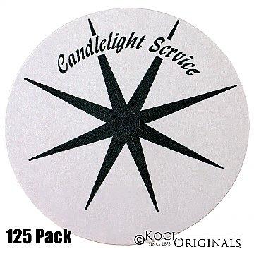 Congregational Candles Bobeche Holder - Disposable Paper - 125 Pieces