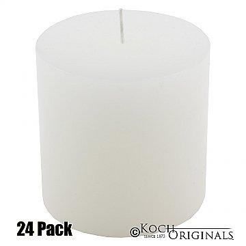 Pillar Candle - 3'' x 3'' - 24 Pack