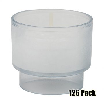 Disposable Votives - 4 hour burn - 126 Pack