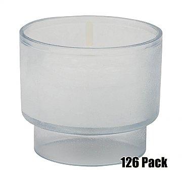 Disposable Votives - 6 hour burn - 126 Pack