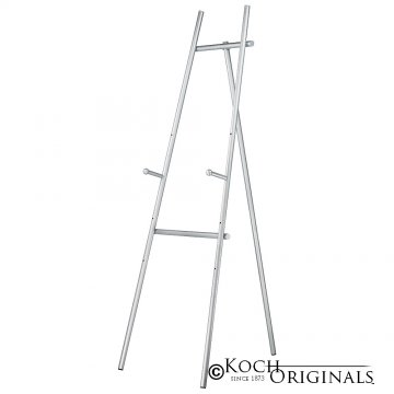 Standard Easel w/ Adjustable Pegs - Frosted Silver
