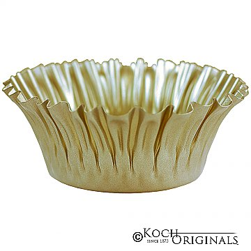 Flower Bowl - 8'' - Gold Leaf