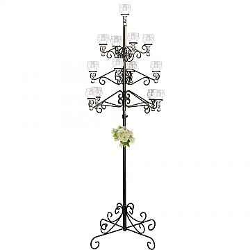 13-Light Tree Floor Candelabra - Teardrop Style - Onyx Bronze