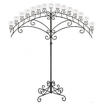 15-Light Fan Floor Candelabra - Teardrop Style - Onyx Bronze