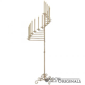 15-Light Spiral Candelabra - Gold Leaf