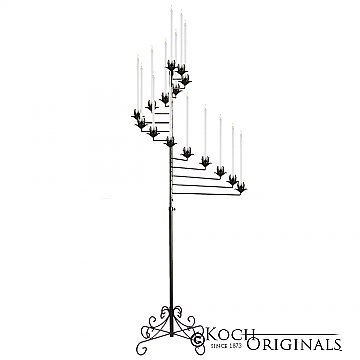 15-Light Spiral Candelabra - Onyx Bronze