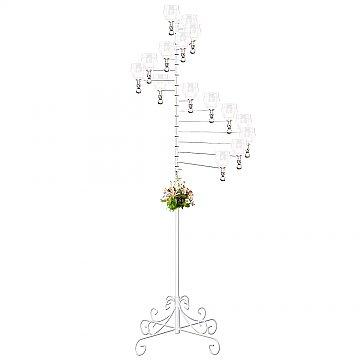 15-Light Spiral Candelabra - Teardrop Style - White