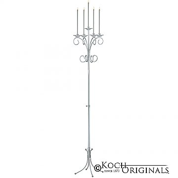 5-Light Tree Floor Candelabra - Frosted Silver