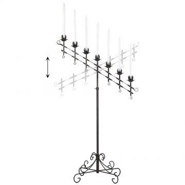 7-Light Adjustable Floor Candelabra - Onyx Bronze
