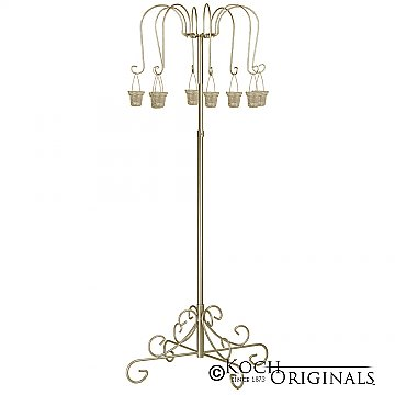 Small Willow Tree Candelabra w/ 8 lanterns - Gold Leaf