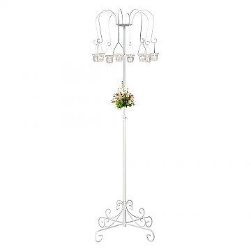 Small Willow Tree Candelabra w/ 8 lanterns - White