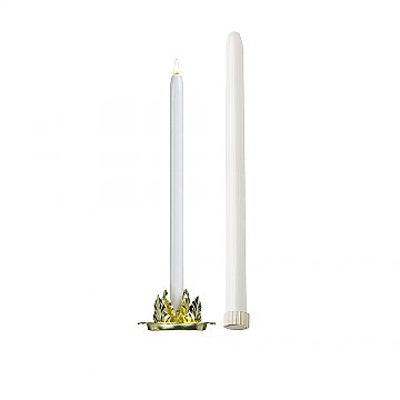 18'' Mechanical Candle - Each -  White