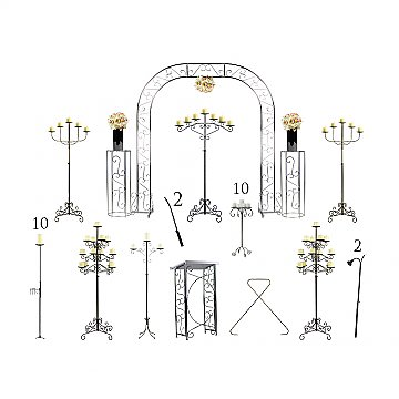 Complete Wedding Package - Pillar Candelabras