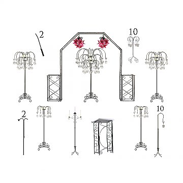 Complete Wedding Package - Willow Candelabras