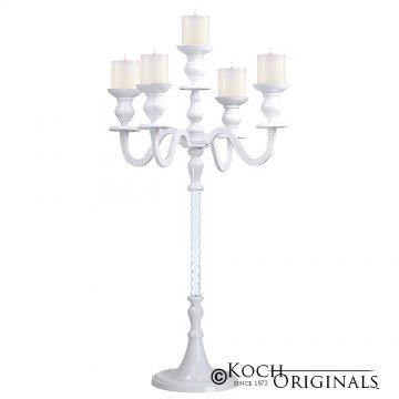 Elegance Tabletop Candelabra - 30'' - 5 light - White