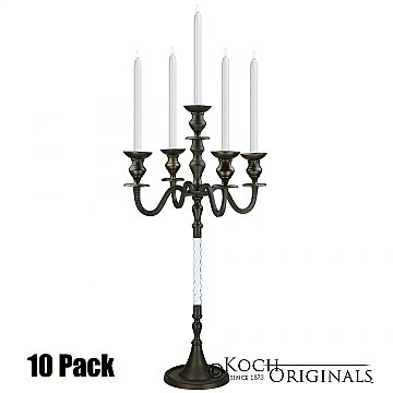 Elegance Tabletop Candelabra - 30'' - 5 light - 10 Pack - Onyx Bronze