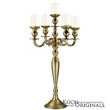 Hierarchy Tabletop Candelabra - 30'' - 5 light - Gold Leaf