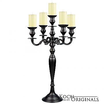 Hierarchy Tabletop Candelabra - 30'' - 5 light - Onyx Bronze
