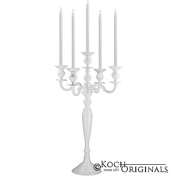 Hierarchy Tabletop Candelabra - 30'' - 5 light - White