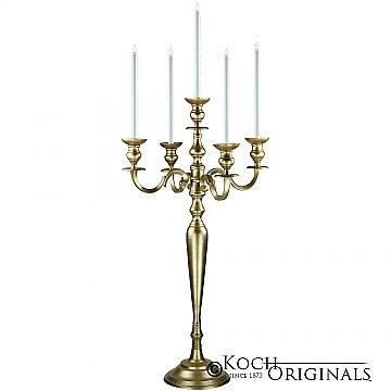 Hierarchy Candelabra - 40'' - 5 light - Gold Leaf