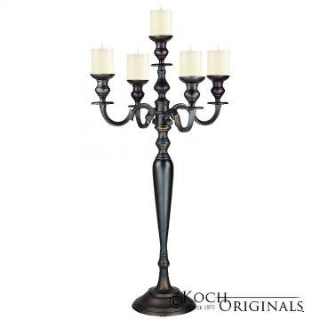 Hierarchy Candelabra - 40'' - 5 light - Onyx Bronze