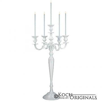 Hierarchy Candelabra - 40'' - 5 light - White