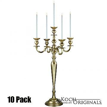 Hierarchy Candelabra - 40'' - 5 light - 10 Pack - Gold Leaf