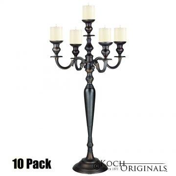 Hierarchy Candelabra - 40'' - 5 light - 10 Pack - Onyx Bronze