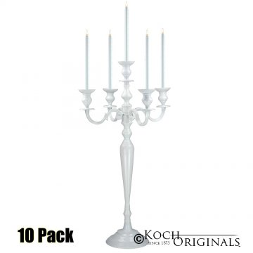 Hierarchy Candelabra - 40'' - 5 light - 10 Pack - White