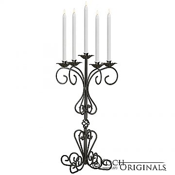 36'' Tall Old World Tabletop Candelabra - Onyx Bronze