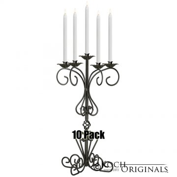 36'' Tall Old World Tabletop Candelabra - 10 Pack - Onyx Bronze