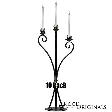 3-Light Swan Candelabra - Traditional Style - 10 Pack - Onyx Bronze