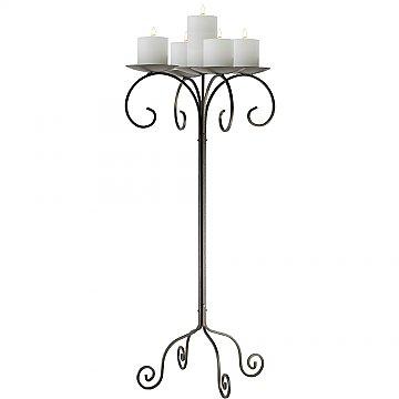 32'' Tall Tabletop Candelabra - Pillar Style - Onyx Bronze