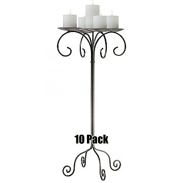 32'' Tall Tabletop Candelabra - Pillar Style - 10 Pack - Onyx Bronze