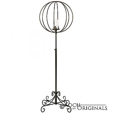 Topiary Ball Candelabra - Large - Onyx Bronze