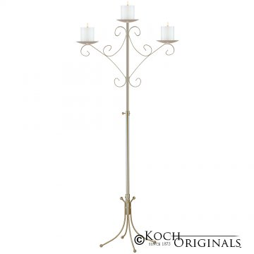Convertible Unity Candelabra - Pillar Style - Gold Leaf