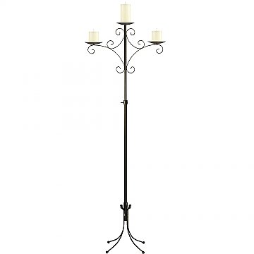 Convertible Unity Candelabra - Pillar Style - Onyx Bronze