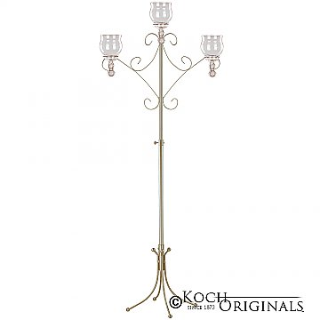 Convertible Unity Candelabra - Teardrop Style - Gold Leaf